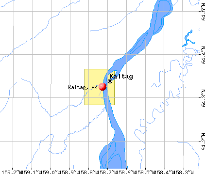 Kaltag, AK map