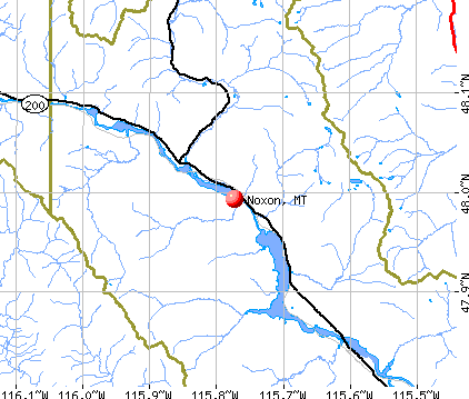 Noxon, MT map