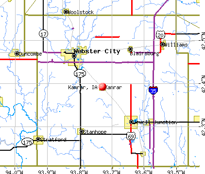 Kamrar, IA map