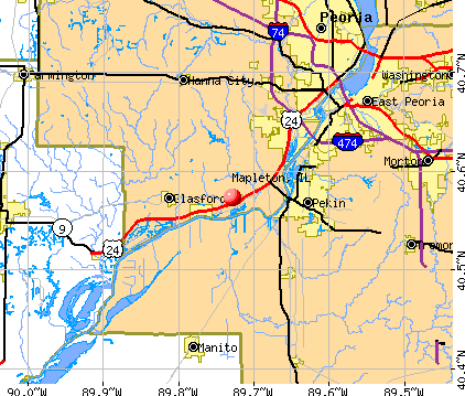 Mapleton, IL map