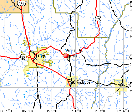Banks, AL map
