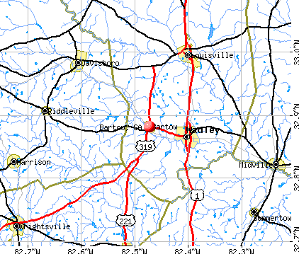 Bartow, GA map