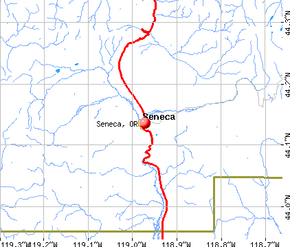 Seneca, OR map