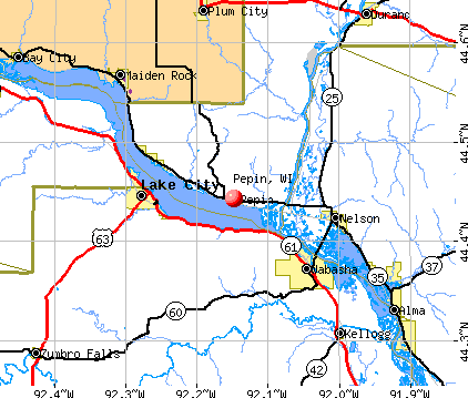 Pepin, WI map
