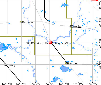 Willow City, ND map