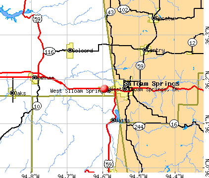 West Siloam Springs, OK map