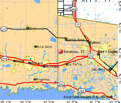 Ratamosa, TX map