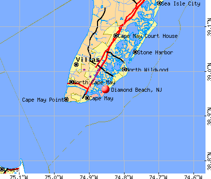 Diamond Beach, NJ map