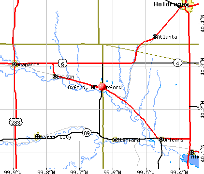 Oxford, NE map