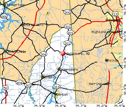 Goldsboro, MD map