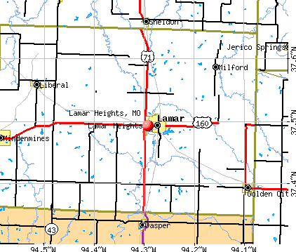 Lamar Heights, MO map
