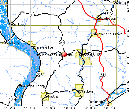 Mount Sterling, WI map