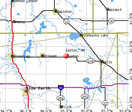 Easton, MN map