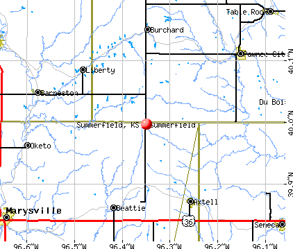 Summerfield, KS map