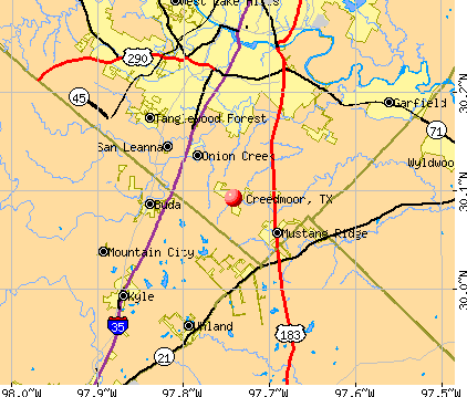Creedmoor, TX map