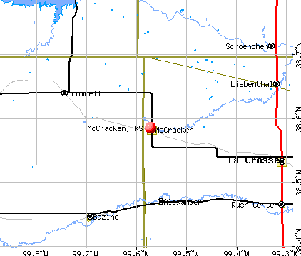 McCracken, KS map