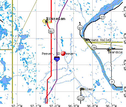 Peever, SD map