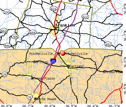 Mitchellville, TN map