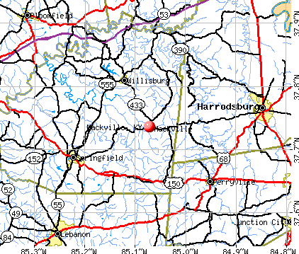 Mackville, KY map