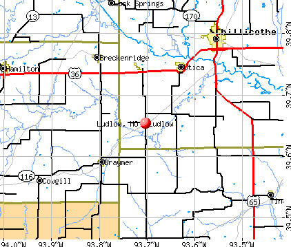 Ludlow, MO map
