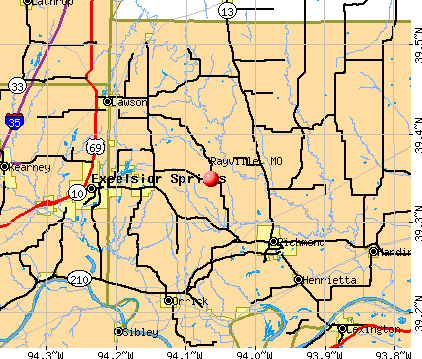 Rayville, MO map