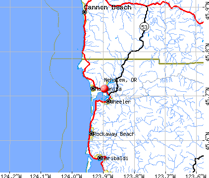Nehalem, OR map