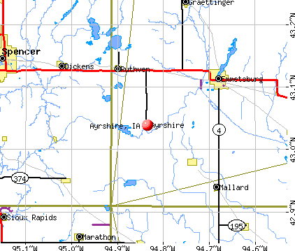 Ayrshire, IA map