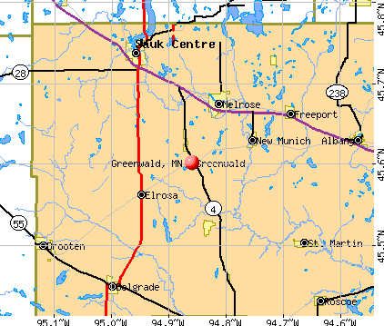 Greenwald, MN map