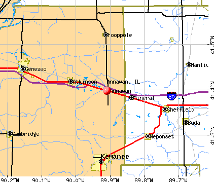 Annawan, IL map