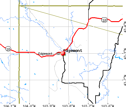 Edgemont, SD map