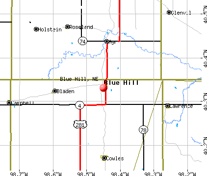 Blue Hill, NE map