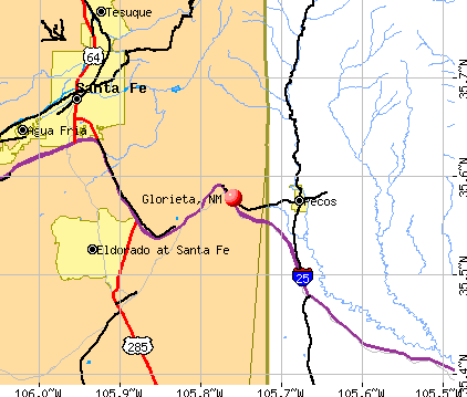 Glorieta, NM map