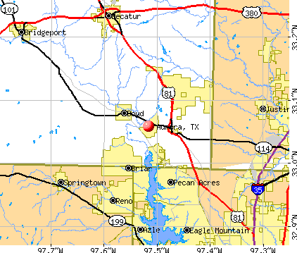 Aurora, TX map