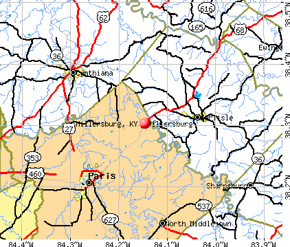 Millersburg, KY map