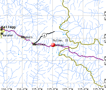 Mullan, ID map