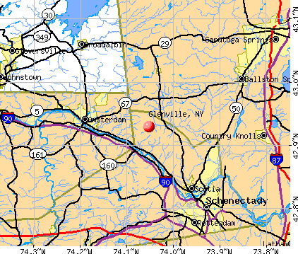 Glenville, NY map