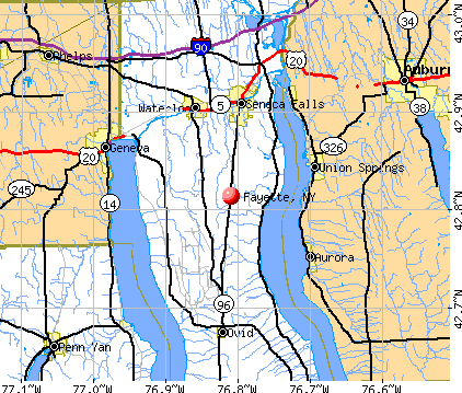 Fayette, NY map