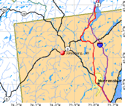 Johnsburg, NY map