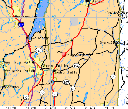 Kingsbury, NY map