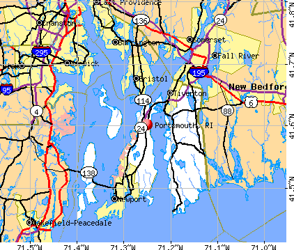 Portsmouth, RI map