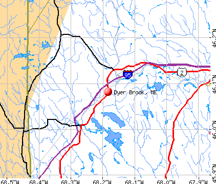 Dyer Brook, ME map