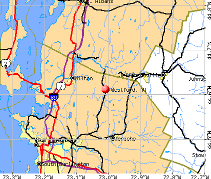 Westford, VT map