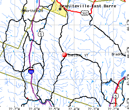 Chelsea, VT map