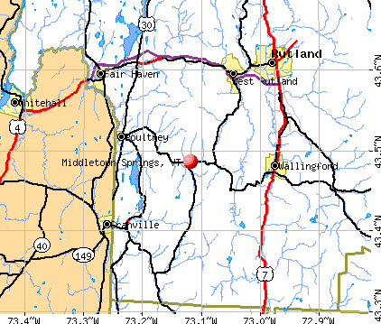 Middletown Springs, VT map