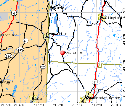 Pawlet, VT map