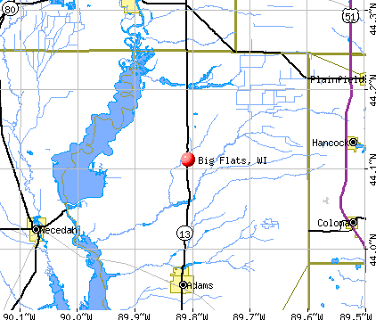 Big Flats, WI map