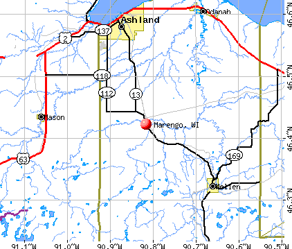 Marengo, WI map