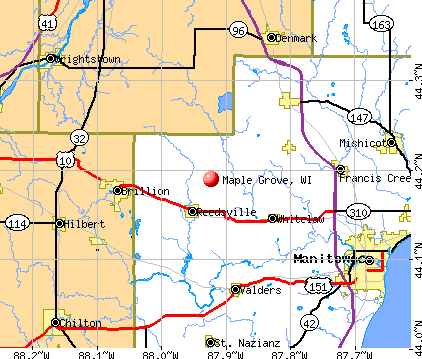 Maple Grove, WI map
