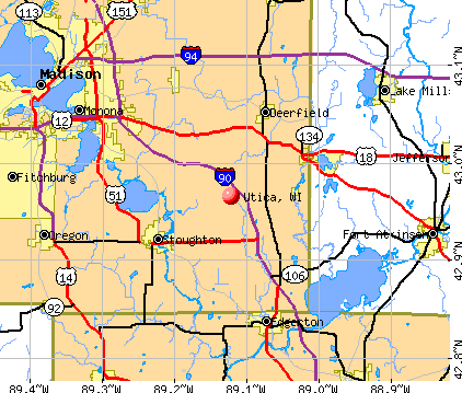 Utica, WI map