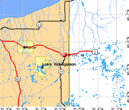 Brule, WI map